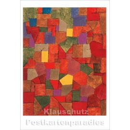 Taurus Kunst Doppelkarte | Paul  Klee - Bergdorf (herbstlich)