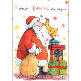 Doppelkarte Weihnachten Peter Gaymann von Discordia - Zeit, DANKE zu sagen