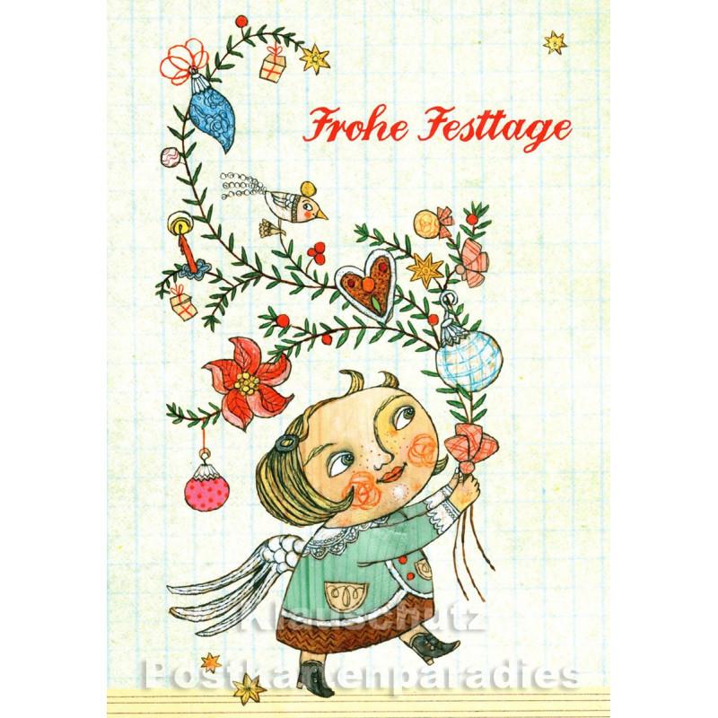 Soganci Doppelkarte Weihnachten von Discordia   Frohe Festtage