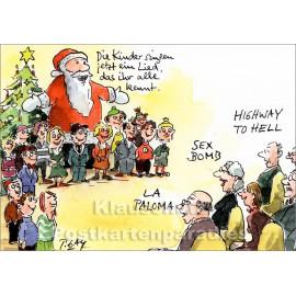 Kinder singen ein Lied | Peter Gaymann Weihnachtskarte von Discordia