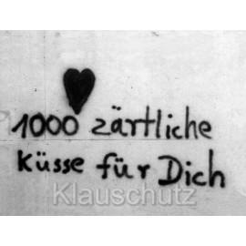1000 zärtliche Küsse - Fotokarte von Discordia