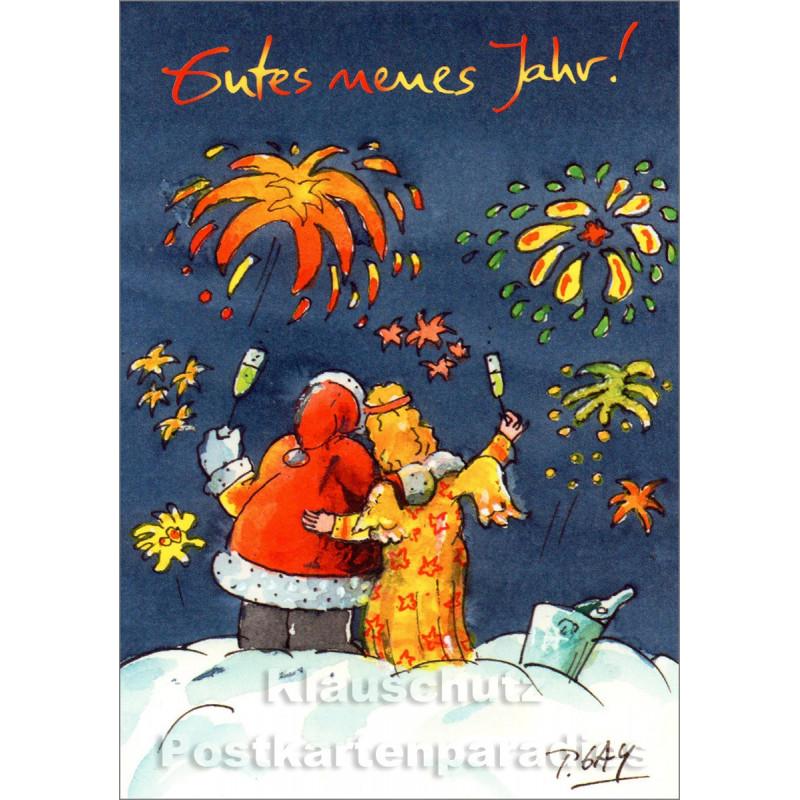 Gutes neues Jahr | Peter Gaymann Weihnachtskarte zu Neujahr