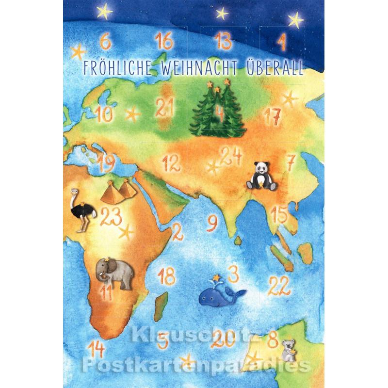 Postkarten Adventskalender von Taurus - Frohe Weihnacht überall in 24 Sprachen