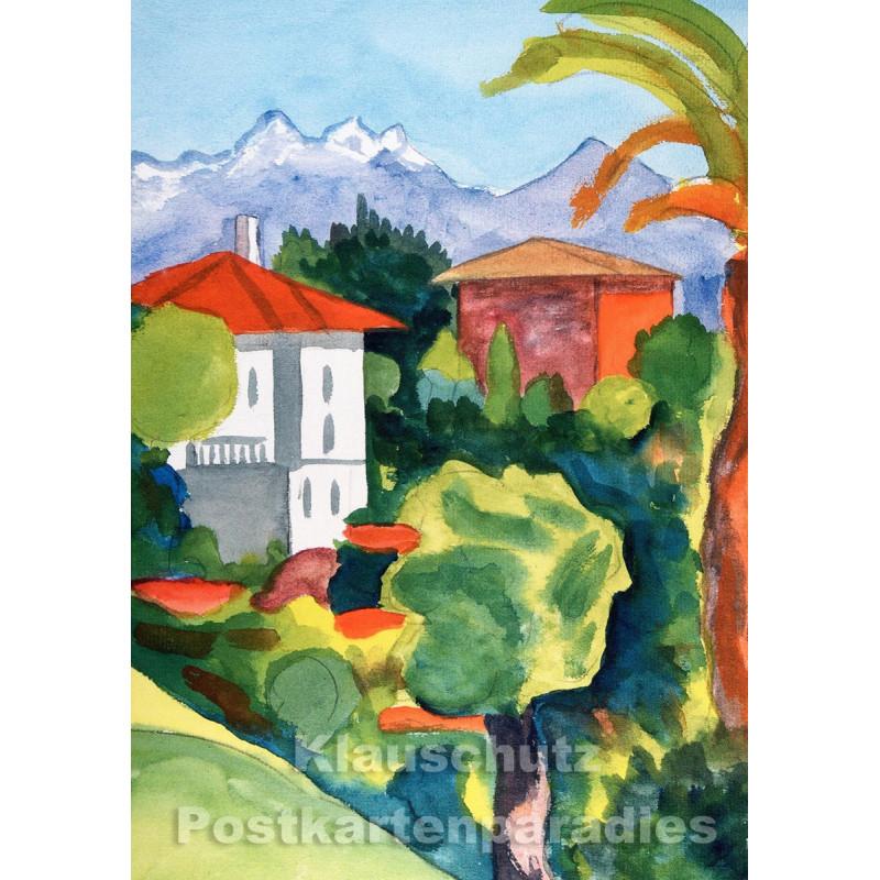 Taurus Kunst Postkarte | Hermann Hesse | Rotes und weißes Haus