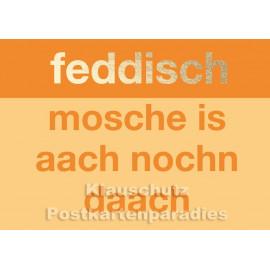Hessen Postkarte von Cityproducts mit goldfarbener Lackierung - Feddisch