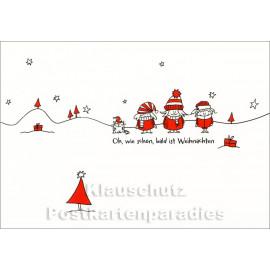Bald ist Weihnachten - SkoKo Postkarte