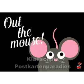 Out the mouse | Denglish Postkarte von den Mainspatzen
