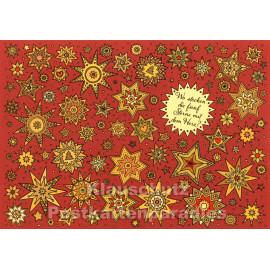 SkoKo Wimmelbild Weihnachtskarte - Wo stecken die fünf Sterne mit dem Herz?