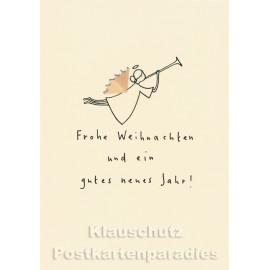 Buntstift Spitzer Doppelkarte - Frohe Weihnachten Engel
