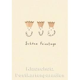 Buntstift Spitzer Doppelkarte von Discordia - Heilige Drei Könige - Schöne Feiertage