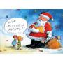 Wir bereuen nichts! Peter Gaymann Comic Weihnachtskarte mit dem Weihnachtsmann