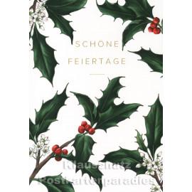 Stimmungsvolle Weihnachtskarte auf haptisch sehr schönem Papier von Catherine Lewis - Schöne Feiertage