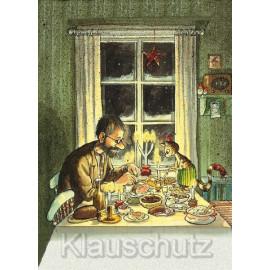 Postkarte Pettersson Findus Heiligabend