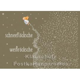 Hessen Weihnachtskarte - Schneeflöcksche