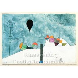 Taurus Kunst Postkarte | Paul Klee | Winterbild