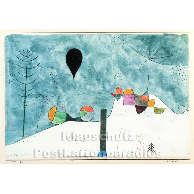 Taurus Kunst Postkarte   Paul Klee   Winterbild