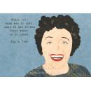 Schöne Edith Piaf Zitat Postkarte von Studio Blankensteyn