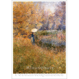 Taurus Kunst Postkarte   Anna Boch   Frau in Landschaft
