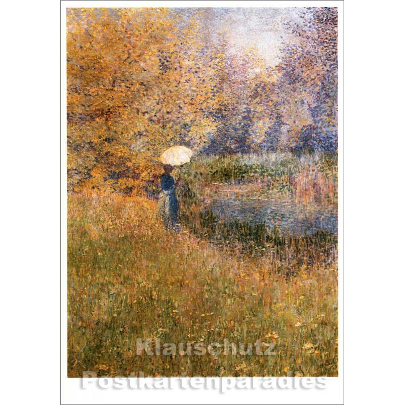 Taurus Kunst Postkarte | Anna Boch | Frau in Landschaft