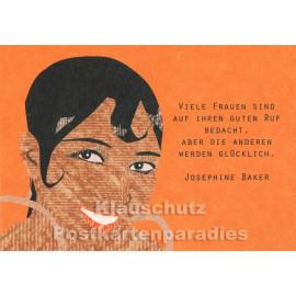 Schöne Josephine Baker Zitat Postkarte von Studio Blankensteyn