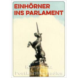 Discordia / Edition Bo Postkarte - Einhörner ins Parlament