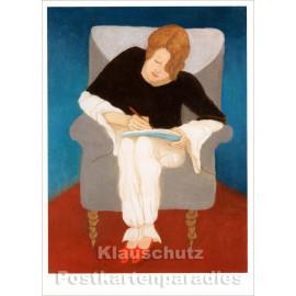 Taurus Kunst Doppelkarte mit Umschlag | Gabriele Münter | Dame im Sessel