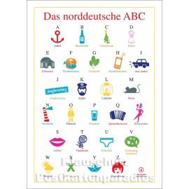 Das norddeutsche ABC - Cityproducts Küsten Postkarte