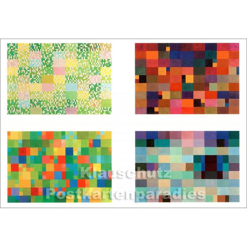 Johannes Itten - Jahreszeiten (Frühling, Sommer, Herbst, Winter) | Taurus Kunst Postkarte