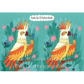 SkoKo Wimmelbild Postkarte - Kakadu Rätsel
