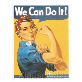 We Can Do It! Starke Frauen Postkarte