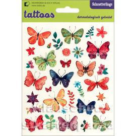 SkoKo Kinder Klebe Tattoos | Schmetterlinge