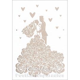Doppelkarte mit Lasercut-Stanzung von ActeTre / Quire - Hochzeitspaar