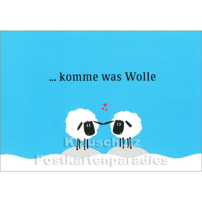 Komme was Wolle -  Küstenpost Postkarte von Chatlab / Discordia