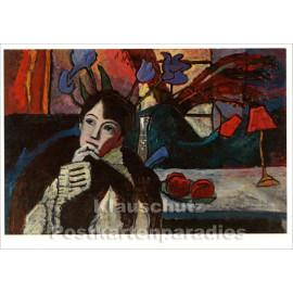 Taurus Kunst Postkarte | Gabriele Münter | Sinnende