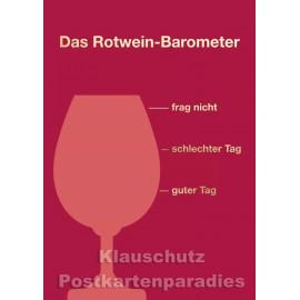 Sprüche Postkarte von Cityproducts - Das Rotwein-Barometer