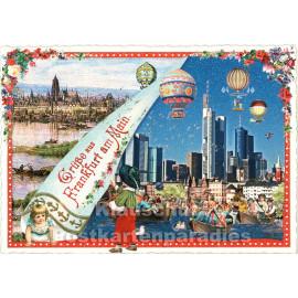 Grüße aus Frankfurt  | ActeTre Glitter Nostalgie Postkarte