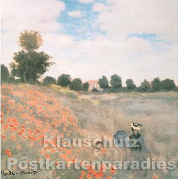 Quadrat Kunst Doppelkarte Claude Monet - Vorderseite