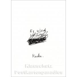 Es wird ... Kacke | Postkarte von Discordia / karindrawings