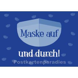 Maske auf und durch! | Postkartenparadies Postkarte