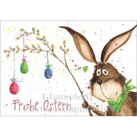 Osterkarte von Taurus mit Hase - Frohe Ostern