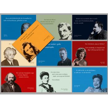 Postkarten Sparset vom Postkartenparadies mit 10 Karten - Zitate 1
