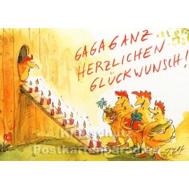 Gagaganz herzlichen Glückwunsch - Geburtstagskarte von Peter Gaymann