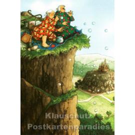 Alte Frauen machen Seifenblasen | Inge Löök Postkarte von Taurus