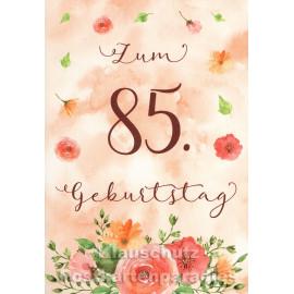 Runder Geburtstag Taurus Doppelkarte | Zum 85. Geburtstag