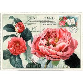 Retro Glitterkarte von ActeTre | Blumen