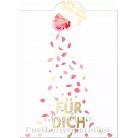 Goldfarbene Cityproducts Geburtstagskarte mit Stanzung | Für Dich