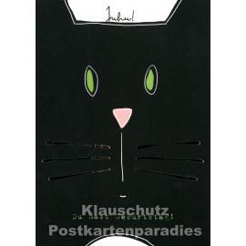 ActeTre Geburtstag Doppelkarte | Juhu - Katze