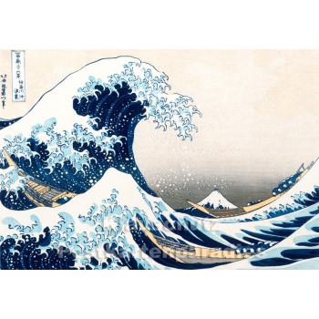 Taurus Kunst Postkarte | Katsushika Hokusai | Die große Welle von Kanagawa (1831)