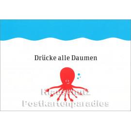 Drücke alle Daumen -  Küstenpost Postkarte von Chatlab / Discordia