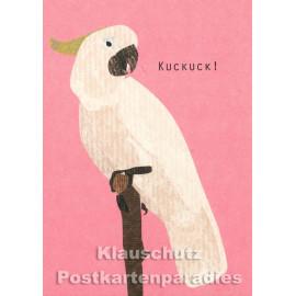 Holzschliffpappe Postkarte von Studio Blankensteyn | Kakadu
